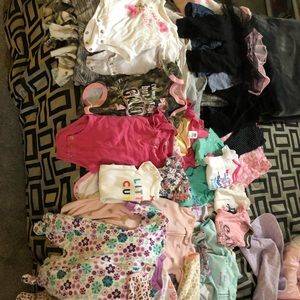 0-3 and 3 month girl clothing lot